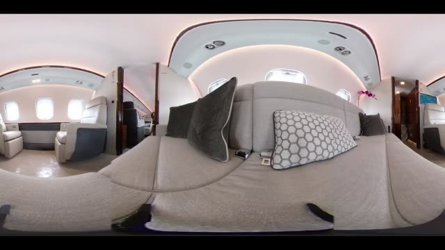 Video was created as an Equirectangular Panorama Import video into a panoramic player to create an interactive 360 degree view An interior of a...