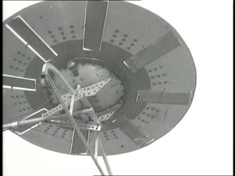 an inventor demonstrates a homemade flying saucer in his backyard - saucer stock videos and b-roll footage