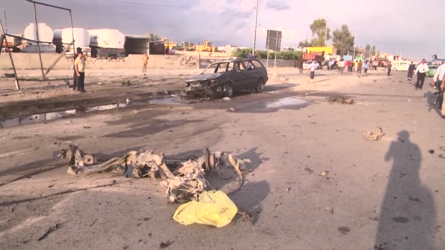 an iraqi turkmen front's candidate in parliamentary polls survived a suicide car bomb attack in the northern iraqi city of kirkuk a police official... - candidate stock videos and b-roll footage