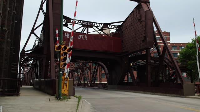 An Iron Bridge In Chicago