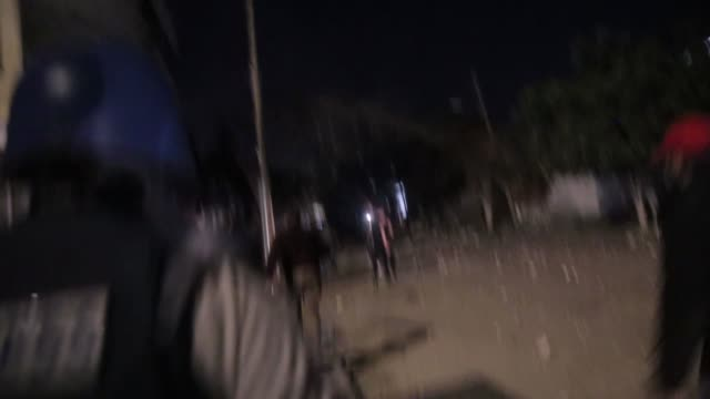 an israeli air strike hit a building in gaza, palestine, on may 4, 2019. - air raid stock-videos und b-roll-filmmaterial