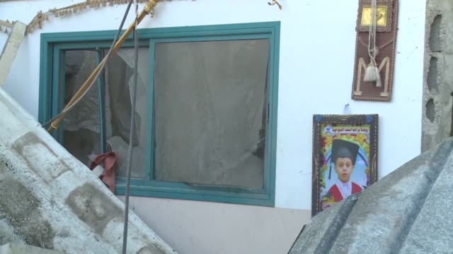 An Israeli airstrike hits a house located in Beit Lahia in the Gaza Strip