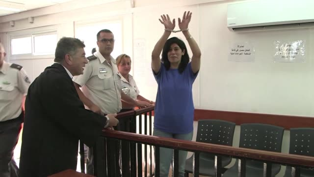 an israeli military court is holding its latest hearing in the case of palestinian legislator khalida jarrar who has been in detention since april 2... - court stock videos & royalty-free footage