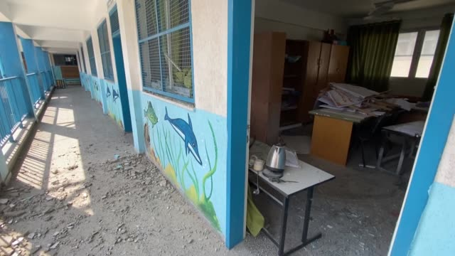 an israeli warplane fired a missile that landed in a school run by the un refugees agency in al-shati refugee camp, western gaza city on august 13,... - exclusive stock videos & royalty-free footage
