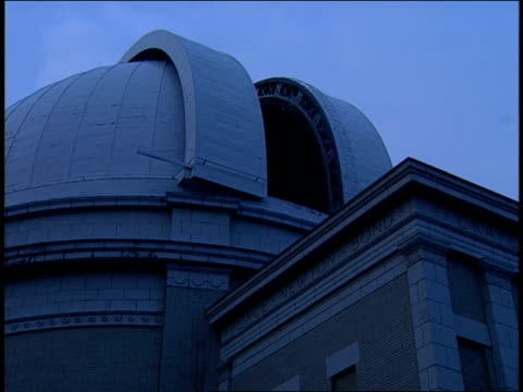 an observatory dome slowly rotates. - space and astronomy stock videos & royalty-free footage