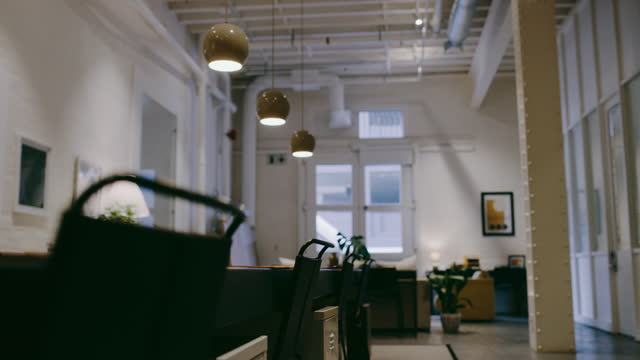 an office setup that's sleek, simple and stylish - group of objects stock videos & royalty-free footage
