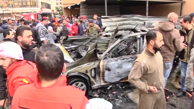 An official in the Palestinian Islamist movement Hamas was wounded in a car bomb blast in southern Lebanon on Sunday military and medical sources told