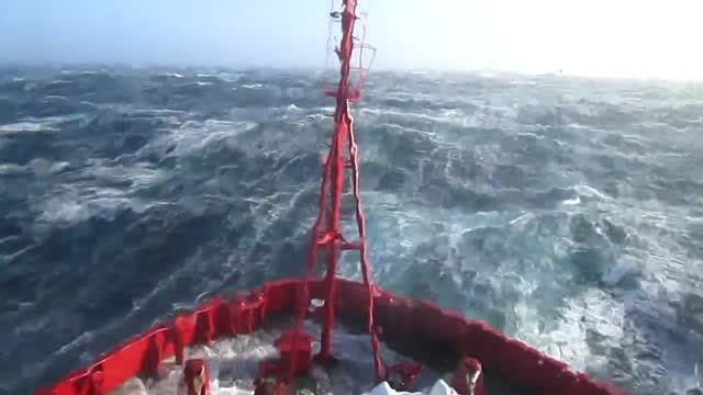 an offshore vessel is sailing through nasty winds and harsh waves on december 8, 2011 off the coast of scotland in the north sea. - splashing stock videos & royalty-free footage