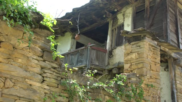 an old ruined house from xix century in the architectural reserve old stefanovo in bulgaria - europe stock videos & royalty-free footage