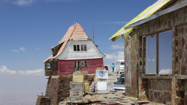 an old ski club hut on the peak of chacaltaya , until 2009 chacaltaya had a glacier which supported the worlds highest ski lift at over 17,000 feet.... - high up stock videos & royalty-free footage