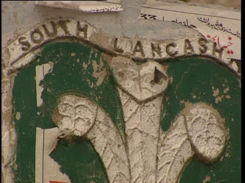 an old weathered emblem for the south lancashire regiment - weathered stock videos and b-roll footage