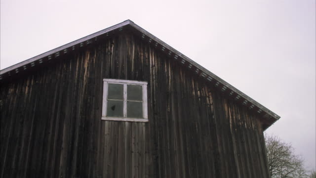 An old wooden house Norrland Sweden.