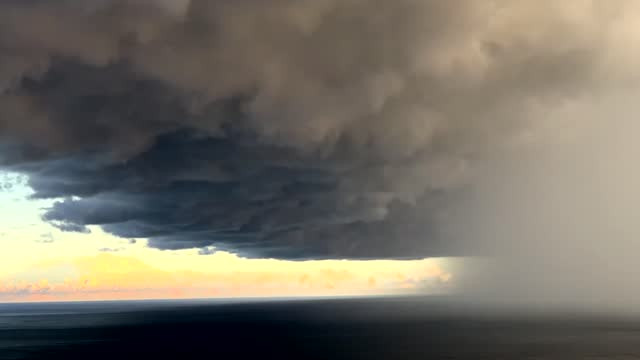 """an """"ominous"""" storm cloud formed over forresters beach, on the coast of new south wales on july 12, during a week when australia's southeast was... - emergencies and disasters stock videos & royalty-free footage"""