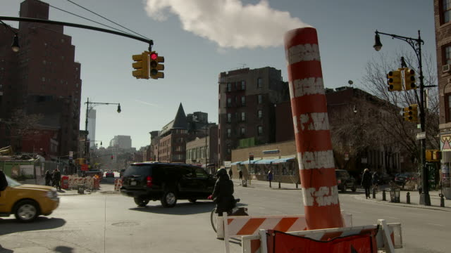 An open steam vent on 7th Avenue South in New York City.