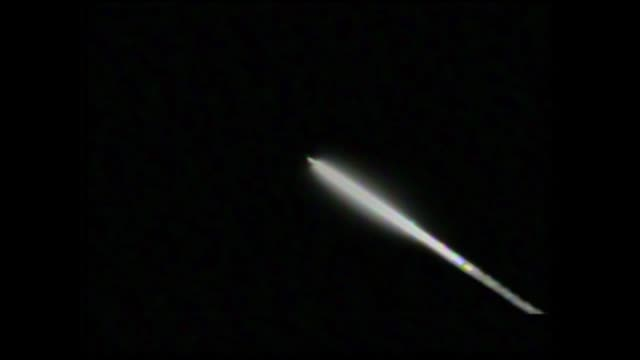 an unarmed minuteman iii intercontinental ballistic missile launches during a developmental test from vandenberg air force base california at 1101... - stapellauf stock-videos und b-roll-filmmaterial