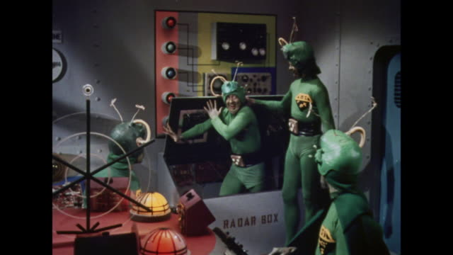 1964 an unauthorized martian causes trouble aboard the spaceship - careless stock videos & royalty-free footage