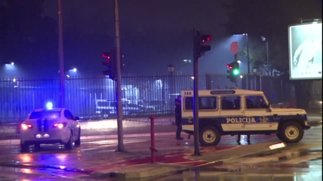 an unknown person blew themself up after throwing a suspected grenade into the us embassy compound in podgorica - compounding stock videos and b-roll footage