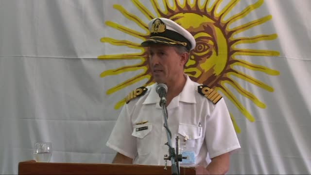 an unusual noise heard in the ocean near the last known position of the san juan submarine was consistent with an explosion argentina's navy... - thursday stock videos & royalty-free footage