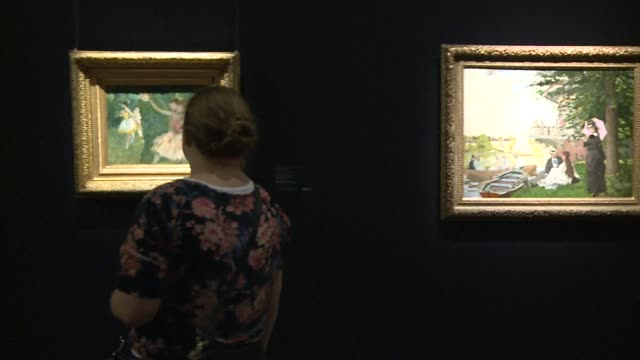 an upcoming auction of impressionist and modern painters at sothebys including work by monet seurat and toulouse lautrec has seen uparalleled... - sotheby's stock videos and b-roll footage