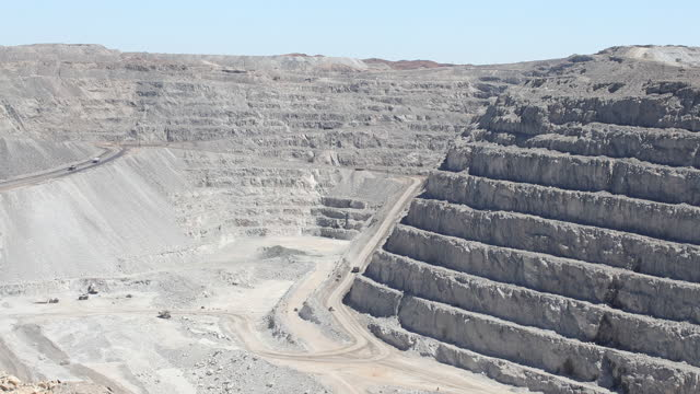 an uranium mine stands near arandis, namibia, on april 5, 2019. the rossing uranium mine in namibia is one of the oldest and largest open uranium... - uranium stock videos & royalty-free footage