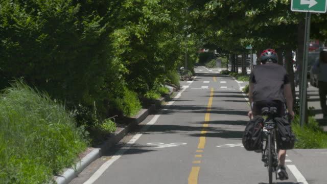 An urban bike lane in New York City