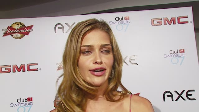ana beatriz barros on her photo shoot her favorite type of music and beyonce at the sports illustrated swimsuit issue party at the pdc in los angeles... - sports illustrated swimsuit issue stock videos & royalty-free footage