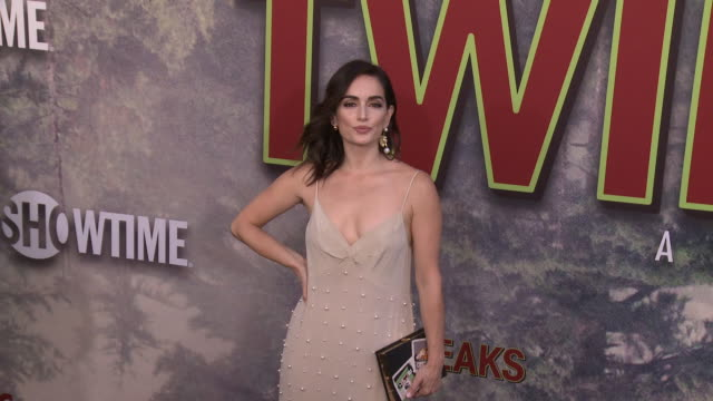 ana de la reguera at the world premiere of the new showtime limitedevent series twin peaks at ace hotel on may 19 2017 in los angeles california - showtime video stock e b–roll