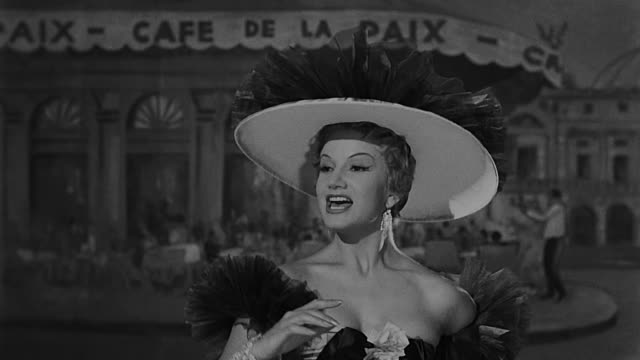 vídeos de stock, filmes e b-roll de ana luisa peluffo singing and dancing at theater with dancers wearing a glamorous dress dramatization - glamour