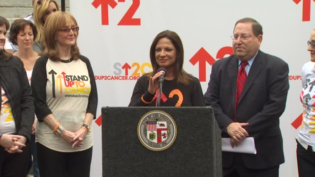 Ana Maria Polo and Paul Koretz at the The City Of LA Declares Friday September 10th As 'Stand Up To Cancer Day' at Los Angeles CA