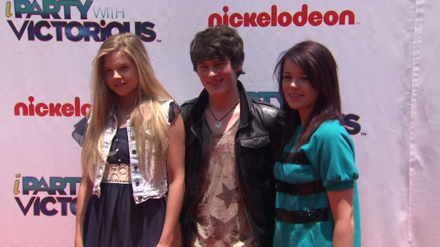 Ana Mulvoy Ten Brad Kavanagh Jade Ramsey at the Nickelodeon's 'iParty With Victorious' Premiere at West Hollywood CA