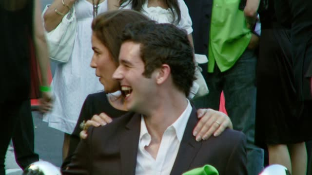 ana ortiz and michael urie at the 2007 ema awards at the wilshire ebell theatre and club in los angeles california on october 24 2007 - wilshire ebell theatre stock videos & royalty-free footage