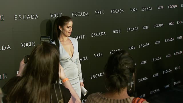 ana ortiz at the the grand opening of the beverly hills flagship boutique celebrated by escada, hilary swank and vogue at escada in beverly hills,... - escada stock videos & royalty-free footage