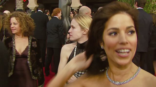 ana ortiz of 'ugly betty' on the event, what she said to america ferrera after she won a golden globe at the 2007 screen actors guild sag awards at... - america ferrera stock videos & royalty-free footage