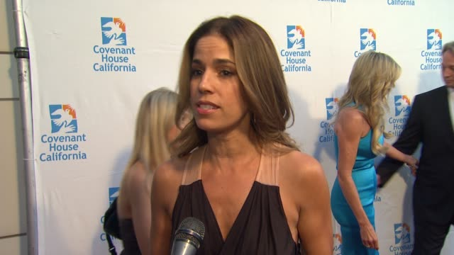 Ana Ortiz on the event supporting Vanessa Williams at Covenant House California 2012 Gala And Awards Dinner at Skirball Cultural Center on June 07...