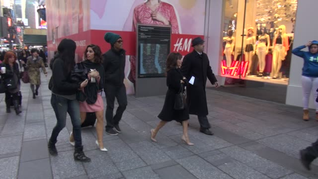 Ana Ortiz Susan Lucci walking into HM store in Times Square in Celebrity Sightings in New York