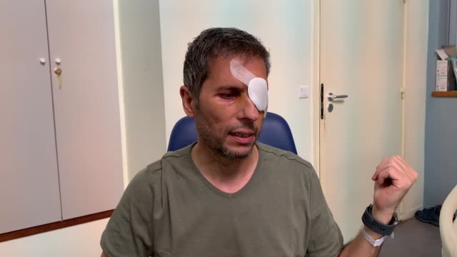 anadolu agency photojournalist mustafa yalcin recalled his ordeal after being injured in the eye during clashes between french police and... - photojournalist stock videos & royalty-free footage