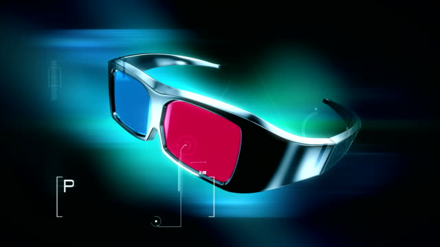 HD: 3D Anaglyph Glasses animation