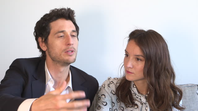 INTERVIEW Anais Demoustier Jeremie Elkaim on the film being based on a true story at 'Marguerite Julien' Interviews on May 20 2015 in Cannes France
