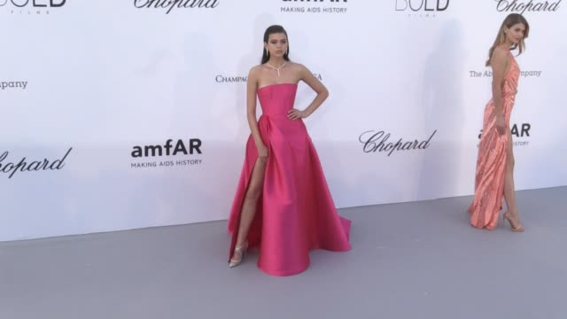 Anais Monory Jean Roch Dasha Yanina Monika Bacardi Daria Strokous Charlotte Carroll Georgia Fowler Nadine Leopold at the photocall red carpet of the...