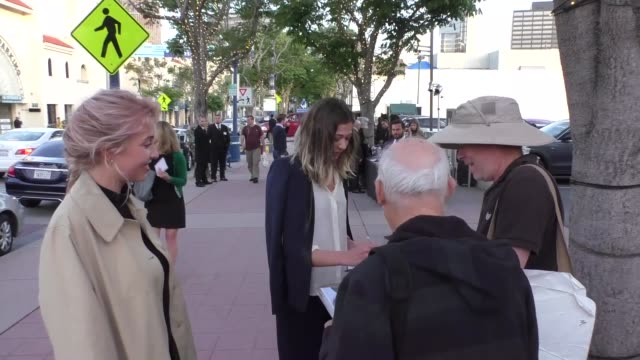 stockvideo's en b-roll-footage met analeigh tipton outside the genius premiere at fox bruin theater in westwood in celebrity sightings in los angeles - bruin theater