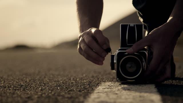 Analog photographer on street