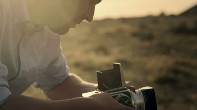 analog photographer - casual clothing stock videos & royalty-free footage