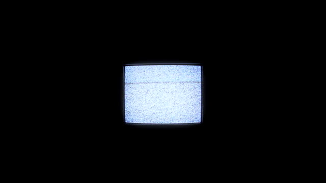 analog square tv with white noise. - distorted stock videos & royalty-free footage