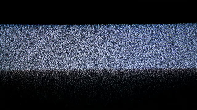 TV analog static wave across the screen