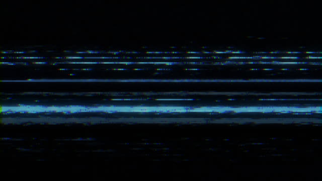 analog tv vhs noise - distorto video stock e b–roll