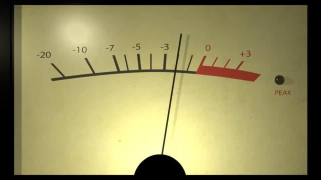 vidéos et rushes de analogique vu mètres boucle - matériel hi fi