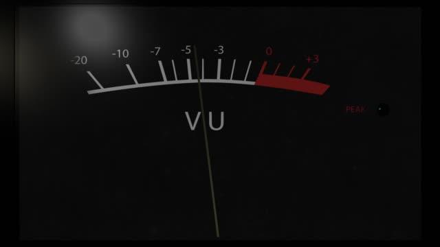 analog vu meter peaking - meter instrument of measurement stock videos & royalty-free footage