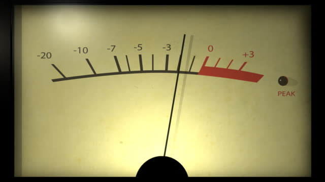 Analog VU meter start and stop.