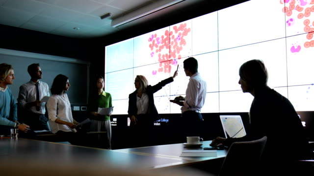 analysing data on dna phenotyping - global communications video stock e b–roll