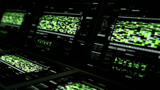 stockvideo's en b-roll-footage met adn analyse interface monitoren - adn